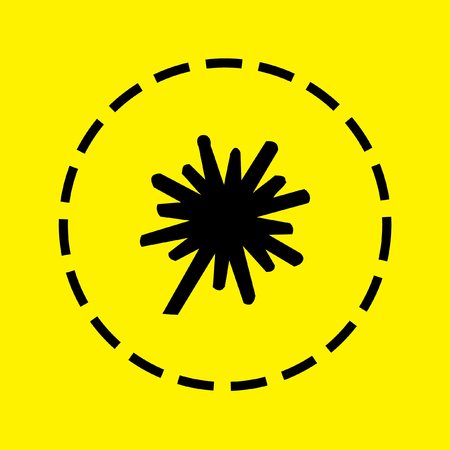 thick: A black Icon Isolated on a yellow Background - Explosion Thick