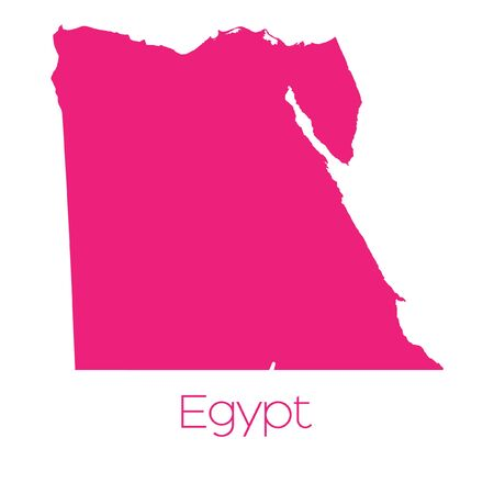 egypt: A Map of the country of Egypt Stock Photo