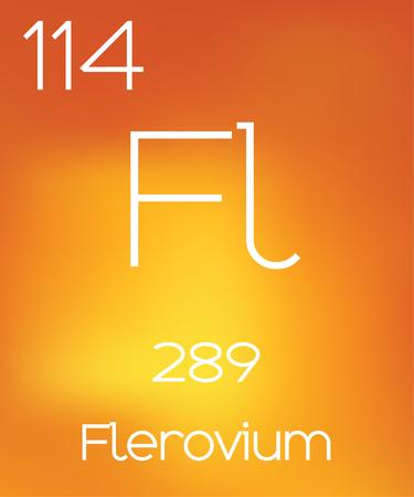 periodic element: An Informative Illustration of the Periodic Element - Flerovium Stock Photo