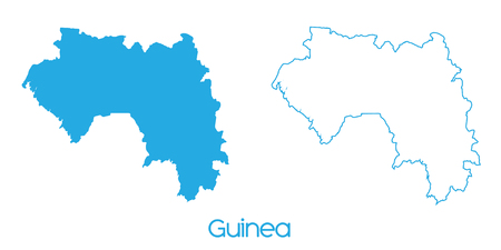 guinea: A Map of the country of Guinea