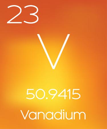 vanadium: An Informative Illustration of the Periodic Element - Vanadium Stock Photo