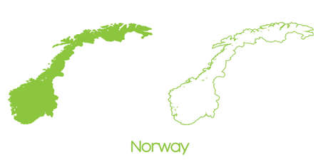 norway: A Map of the country of Norway Stock Photo