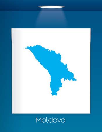 moldova: A Map of the country of Moldova