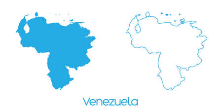 mapa de venezuela: A Map of the country of Venezuela Foto de archivo