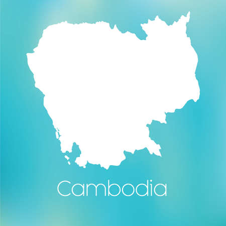 cambodia: A Map of the country of Cambodia