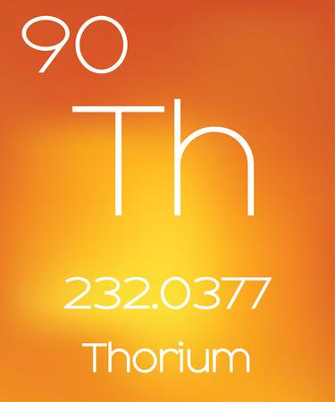 thorium: An Informative Illustration of the Periodic Element - Thorium