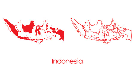 indonesia: A Map of the country of Indonesia