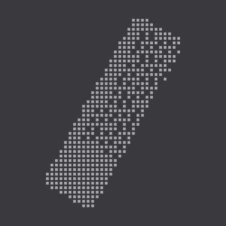 hairbrush: A Grey Icon Isolated on a Grey Background - Hairbrush
