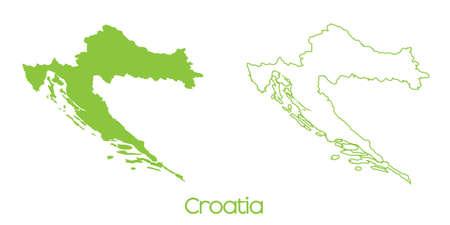croatia: A Map of the country of Croatia