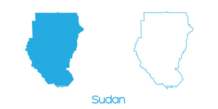 sudan: A Map of the country of Sudan Stock Photo