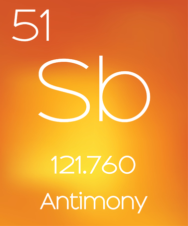 antimony: An Informative Illustration of the Periodic Element - Antimony