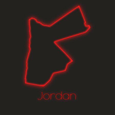 jordan: A Neon outline of Jordan