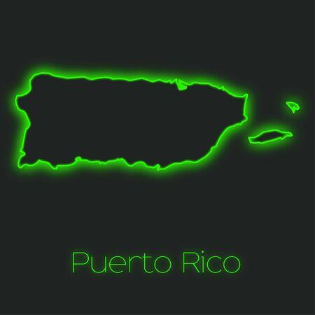 puerto rico: A Neon outline of Puerto Rico