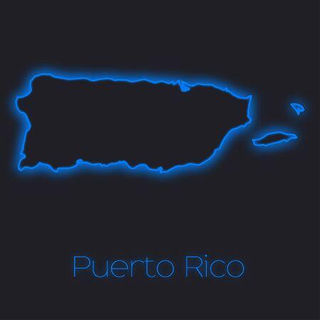 rico: A Neon outline of Puerto Rico