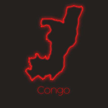 Congo: A Neon outline of Congo