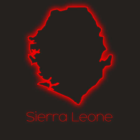 leone: A Neon outline of Sierra Leone