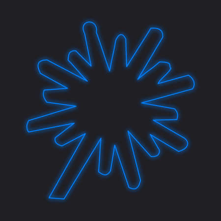 thick: A Neon Icon Isolated on a Black Background - Explosion Thick