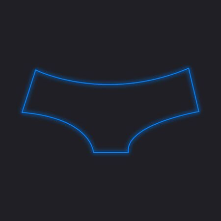 briefs: A Neon Icon Isolated on a Black Background - Womens Briefs Stock Photo