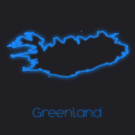 greenland: A Neon outline of Greenland
