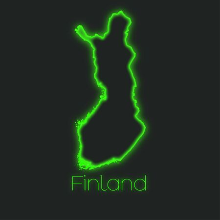 finland: A Neon outline of Finland