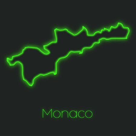 monaco: A Neon outline of Monaco
