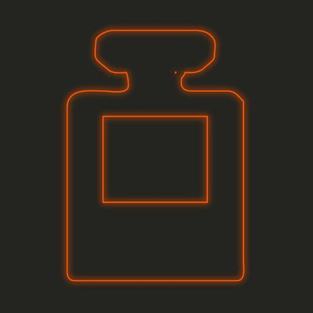 inkpot: A Neon Icon Isolated on a Black Background - InkPot Stock Photo
