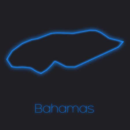 bahamas: A Neon outline of Bahamas