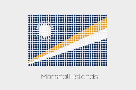 marshall: A Flag Illustration of Marshall Islands Stock Photo