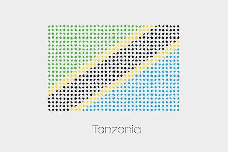 tanzania: A Flag Illustration of Tanzania