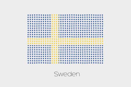 sweden: A Flag Illustration of Sweden Stock Photo