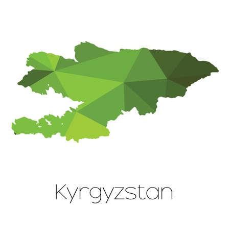 kyrgyzstan: A Map of the country of Kyrgyzstan
