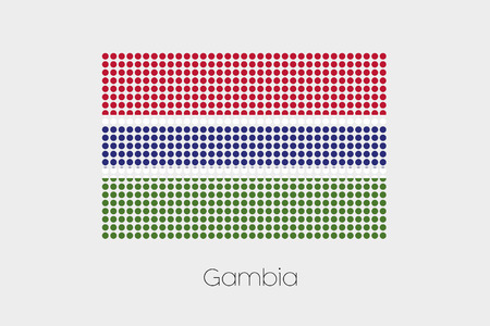 gambia: A Flag Illustration of Gambia
