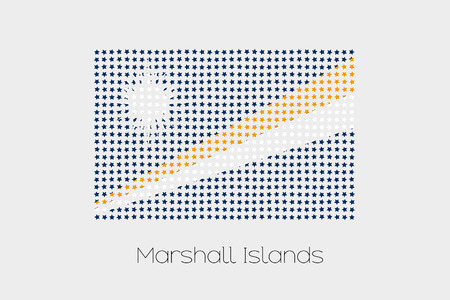 marshall: A Flag Illustration of Marshall Islands Stock Photo