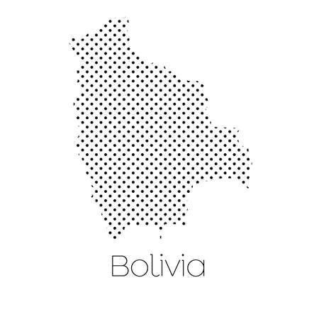 bolivia: A Map of the country of Bolivia
