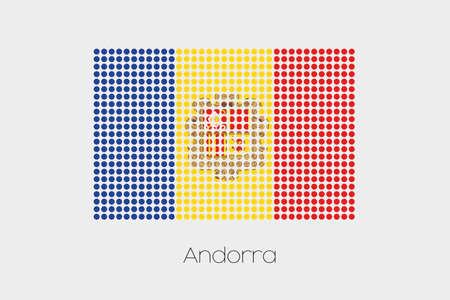 andorra: A Flag Illustration of Andorra
