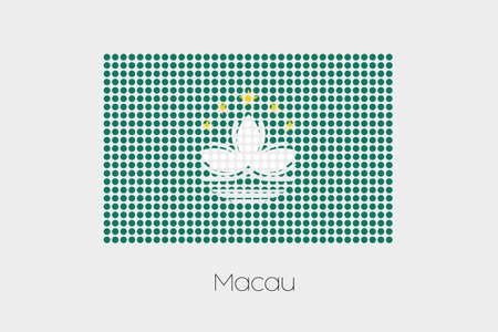 macau: A Flag Illustration of Macau