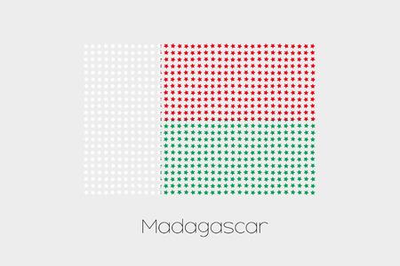 madagascar: A Flag Illustration of Madagascar