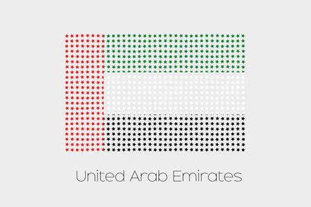 emirates: A Flag Illustration of United Arab Emirates