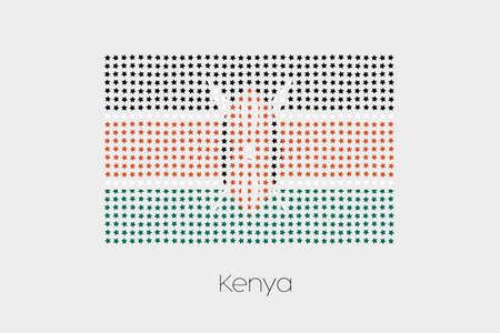 kenya: A Flag Illustration of Kenya