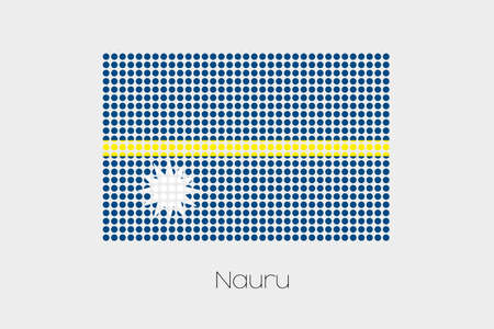nauru: A Flag Illustration of Nauru Stock Photo