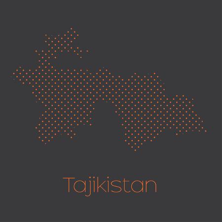 tajikistan: A Map of the country of Tajikistan Stock Photo