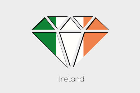 ireland flag: A Flag Illustration inside a Diamond of Ireland
