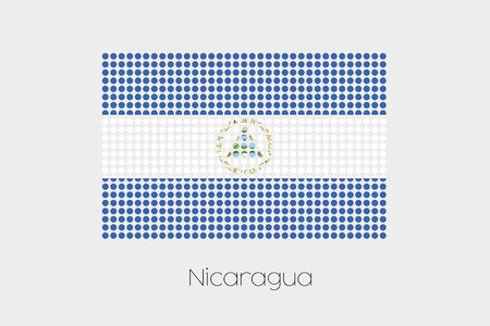 nicaragua: A Flag Illustration of Nicaragua