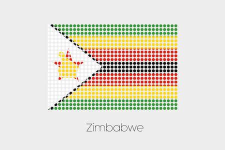 zimbabwe: Una bandera Ilustraci�n de Zimbabwe
