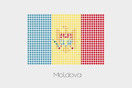 moldova: A Flag Illustration of Moldova