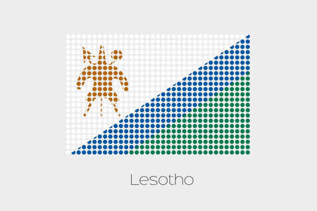 LESOTHO: A Flag Illustration of Lesotho