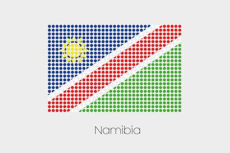namibia: A Flag Illustration of Namibia Stock Photo