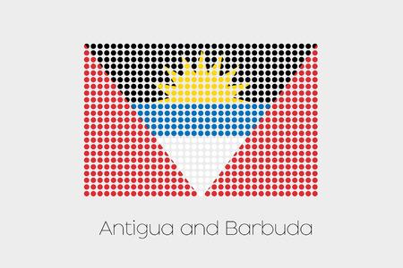 antigua: A Flag Illustration of Antigua and Barbuda