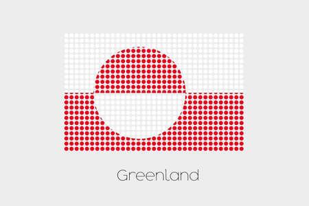 greenland: A Flag Illustration of Greenland