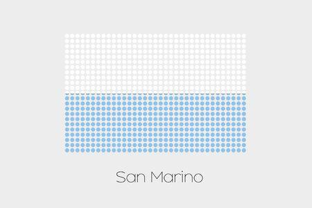 marino: A Flag Illustration of San Marino
